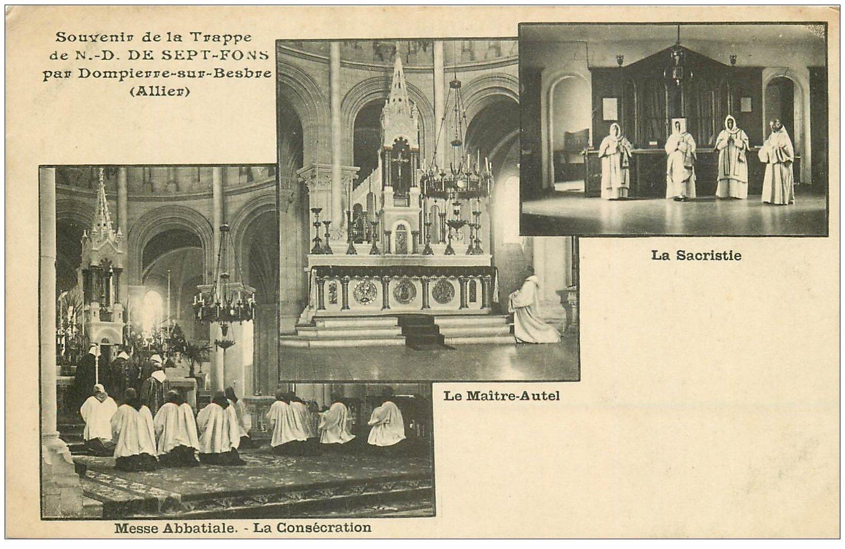 carte postale ancienne 03 DOMPIERRE-SUR-BESBRE. Sept-Fons. Consécration Sacristie Maître-Autel