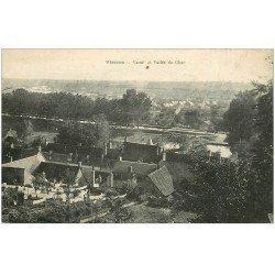 carte postale ancienne 18 VIERZON. Canal et Vallée du Cher