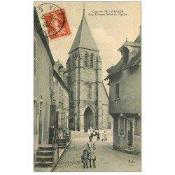 carte postale ancienne 18 VIERZON. L'Eglise Rue Etienne Dolet 1913