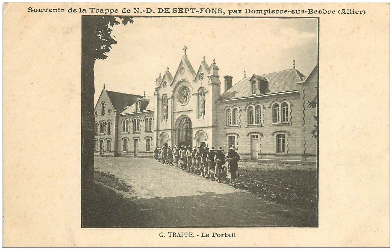 carte postale ancienne 03 DOMPIERRE-SUR-BESBRE. Sept-Fons. Portail