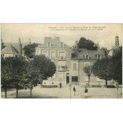 18 VIERZON. Rue Brunet et Place Hôtel de Ville 1923 Emplacement du Marché au Beurre et Volaille. Ed Librairie Parisienne
