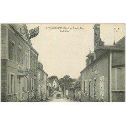 carte postale ancienne 18 VILLEQUIERS. Mairie sur Grande Rue