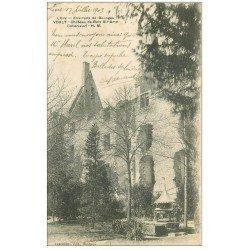 carte postale ancienne 18 VORLY. Château de Bois Sir-Amé 1903 et son Puits