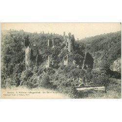 carte postale ancienne 19 ARGENTAT. Les Tours de MERLE
