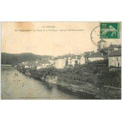 carte postale ancienne 19 ARGENTAT. L'Escondamine 1911
