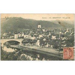 carte postale ancienne 19 ARGENTAT. Vue générale 1905