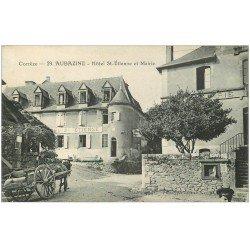 carte postale ancienne 19 AUBAZINE. Hôtel Saint-Etienne et Mairie