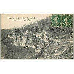 carte postale ancienne 19 AUBAZINE. Ruines Abbaye de Coyroux Route d'Aubazine 1917