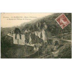 carte postale ancienne 19 AUBAZINE. Ruines Abbaye de Coyroux Route d'Aubazine 1926