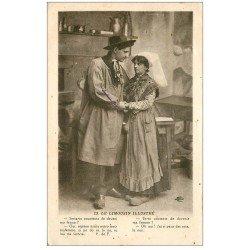 carte postale ancienne 19 Autres. Corrèze et Limousin. Es-tu contente de devenir ma Femme ?... Oh oui