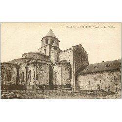 carte postale ancienne 19 BEAULIEU-SUR-DORDOGNE. Les Absides avec Ouvriers Charpentiers