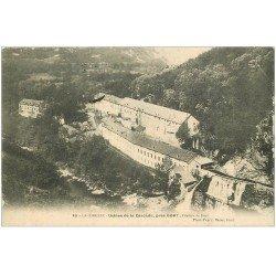 carte postale ancienne 19 BORT près. Usines de la Cascade 1908 Filature de Soie (défaut)...