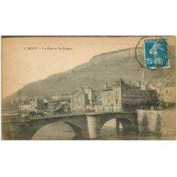 carte postale ancienne 19 BORT. Le Pont et les Orgues 1920