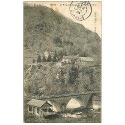 carte postale ancienne 19 BORT. Pont du Chemin de Fer et Belle-Vue 1904