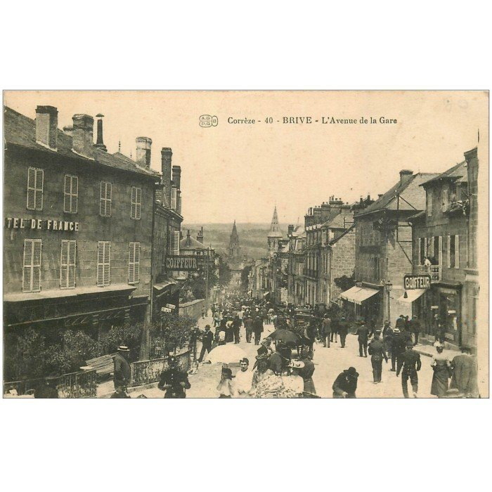 19 brive avenue de la gare h tel de france et coiffeur for Carte de france hotel