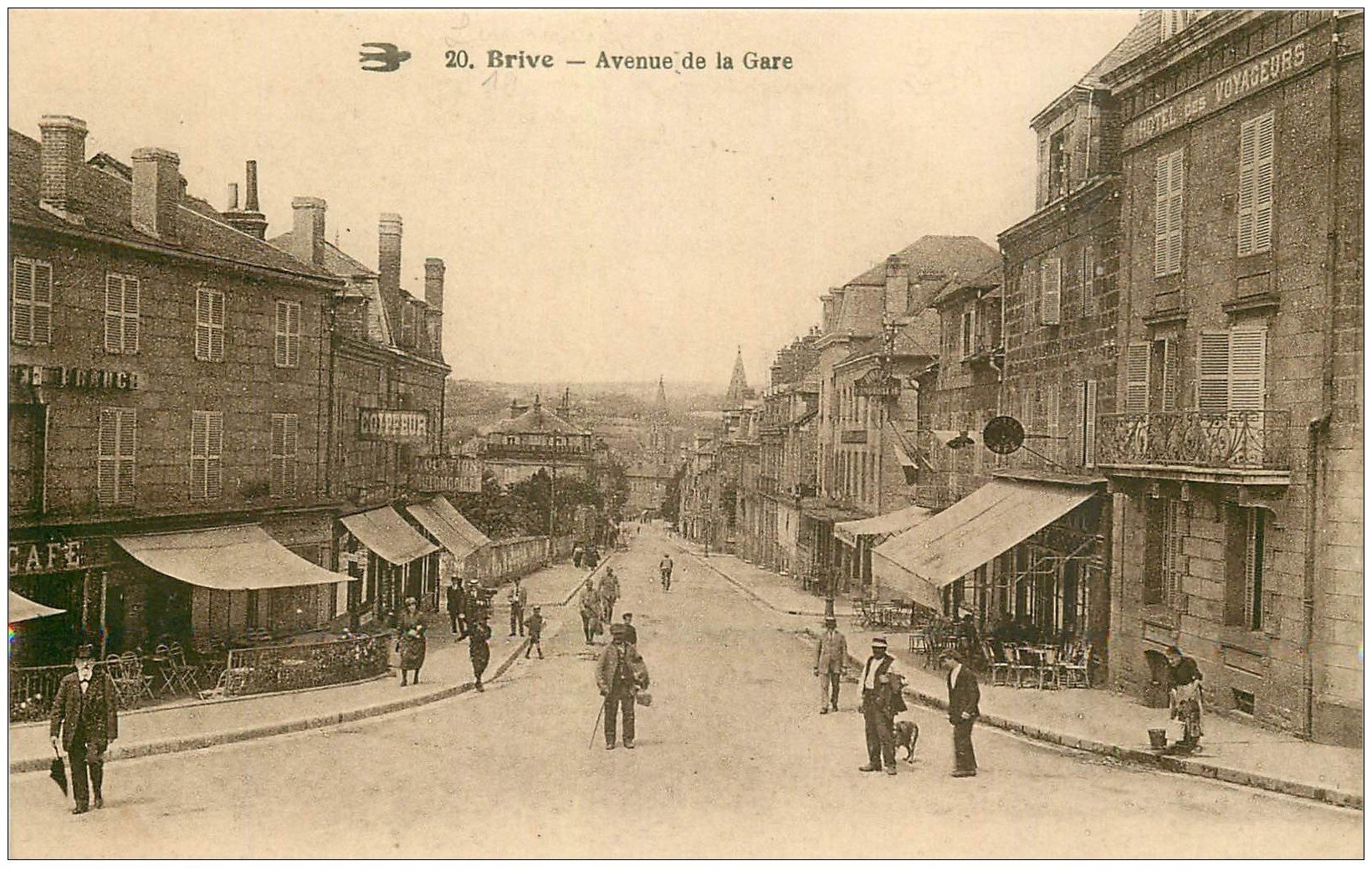 19 brive avenue de la gare h tel de france et des for Carte de france hotel