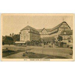 carte postale ancienne 19 BRIVE. Grand Hôtel de Bordeaux