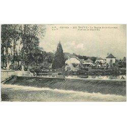 carte postale ancienne 19 BRIVE. La Digue de la Corrèze. Tampon Militaire 1917