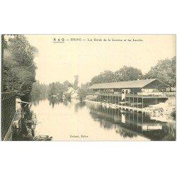 carte postale ancienne 19 BRIVE. Laveuses aux Lavoirs bords de la Corrèze
