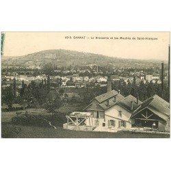 carte postale ancienne 03 GANNAT. Brasserie et Moulins de Saint-François 1909