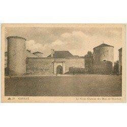 carte postale ancienne 03 GANNAT. Château des Ducs de Boubon 1946
