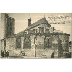 carte postale ancienne 03 GANNAT. Eglise Sainte-Croix animation