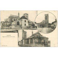 carte postale ancienne 03 GANNAT. Eglise Sainte-Croix. Edition Malot librairie