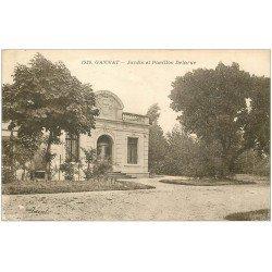 carte postale ancienne 03 GANNAT. Jardin et Pavillon Delarue 1932