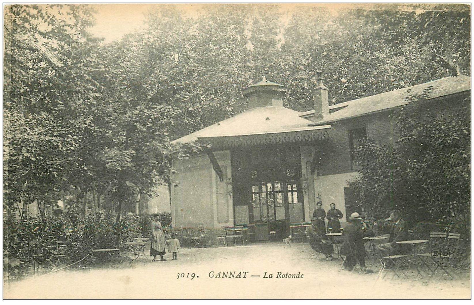 carte postale ancienne 03 GANNAT. La Rotonde Bar Buvette