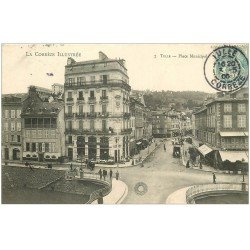 carte postale ancienne 19 TULLE. Place Municipale 1906. Grand Bazar de la Ville de Paris