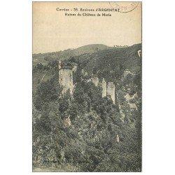 RARE 19 ARGENTAT. Ruines Château de Merle. Ecrite au Peintre Pierre Dubreuil ( 1891-1970) en 1925 Villa Brune Paris XIV