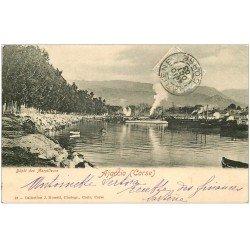 carte postale ancienne 20 AJACCIO. Dépôt des Torpilleurs 1903