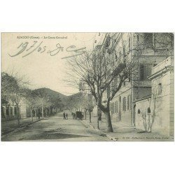 carte postale ancienne 20 AJACCIO. Le Cours Grandval 1905