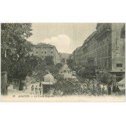 carte postale ancienne 20 AJACCIO. Le Cours Napoléon LL.