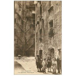 carte postale ancienne 20 AJACCIO. Les Quartiers pittoresques