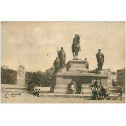 carte postale ancienne 20 AJACCIO. Place du Diamant Statue Napoléon Ier 1927