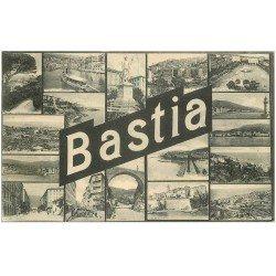 carte postale ancienne 20 BASTIA. Multivues 1921