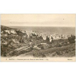 carte postale ancienne 20 BASTIA. Panorama route de Saint-Florent n°5