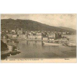 carte postale ancienne 20 BASTIA. Vieux Port et Cathédrale n°22