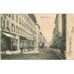 carte postale ancienne 20 BASTIA. Boulevard Paoli 1903 attelage. Edition Vincentelli