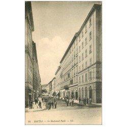 carte postale ancienne 20 BASTIA. Boulevard Paoli n°24 Hôtel de l'Univers et Sellier