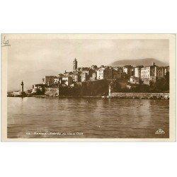 carte postale ancienne 20 BASTIA. Entrée Vieux Port et Citadelle 1939