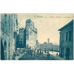 carte postale ancienne 20 BASTIA. Le Cimbalo grosse animation