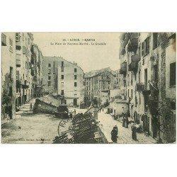 carte postale ancienne 20 BASTIA. Le Guadello Place du Nouveau-Marché 1912