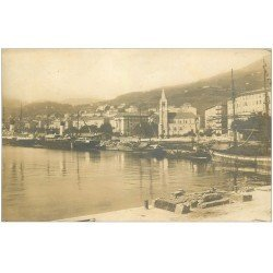 carte postale ancienne 20 BASTIA. Panorama du Port et de la Ville. Carte Photo de luxe LL