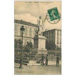 carte postale ancienne 20 BASTIA. Statue de Napoléon Ier 1911