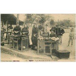 carte postale ancienne 20 BASTIA. Types Marchands de Gibiers et Volailles 1914