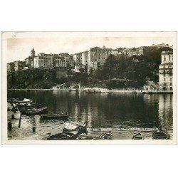 carte postale ancienne 20 BASTIA. Vieux Port et Citadelle. Carte Photo émaillographie. Couputre 1/2 cm