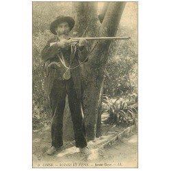 carte postale ancienne 20 CORSE. Bandit Corse. Scènes et Types 1911