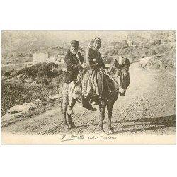 carte postale ancienne 20 CORSE. Bastia. Types Corses sur un âne